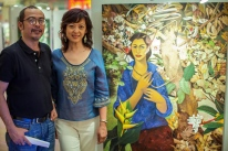 Angela Narciso Torres and artist Hermes, Philippines